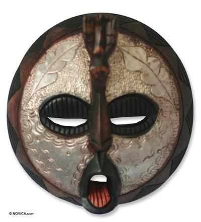 Hand Made Wood Wall Mask