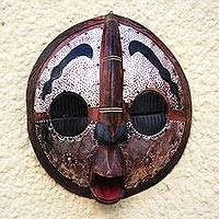 Malian wood mask, 'Spirit Protector' - Malian wood mask