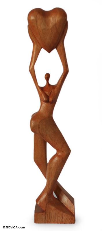 Cedar sculpture