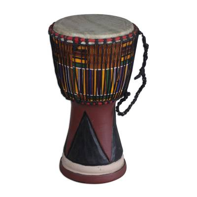 African Wood Djembe Drum