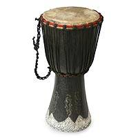 Wood djembe drum, 'Grace' - Wood Djembe Drum