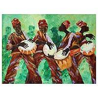 'We're Jamming' - Dance and Music Expressionist Painting from Africa