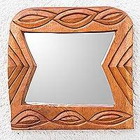 Cedar mirror, 'Friend' - Cedar mirror