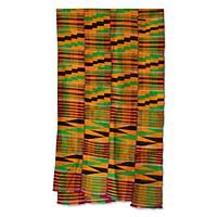 Cotton blend kente cloth scarf,