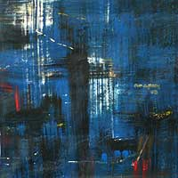 'Melody of the Night II' - African Abstract Fine Art Painting