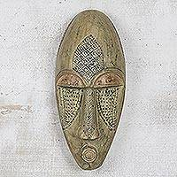 Akan wood mask, 'For Unity' - African Wood Mask