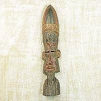 Burkina Faso African wood mask,