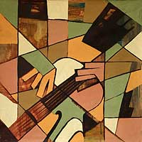 'G Major' - Cubist Painting