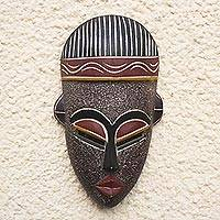 Ethiopian wood mask, 'Berber Man' - Ethiopian wood mask