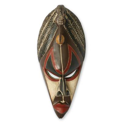 Hausa wood African mask