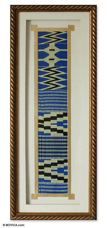 Kente cloth wall panel