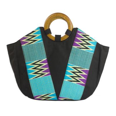 Kente Cotton Handle Handbag from Africa