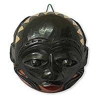 African calabash mask, 'Chieftain' - African calabash mask