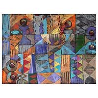 'Orchestrated Symbols' - African Abstract Painting