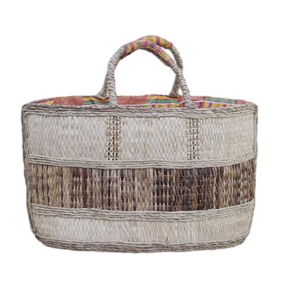 Natural fiber handbag