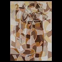 'Expectations II' - Cubist Acrylic Painting