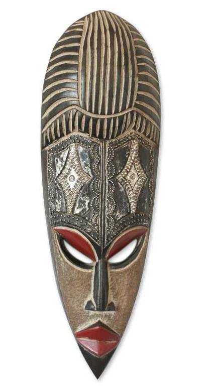 Fair Trade Nigerian Wood Mask