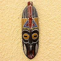 Nigerian wood mask, 'Unfortunate' - Nigerian wood mask