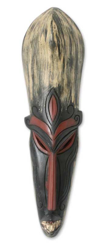 Handmade Wood Wall Mask