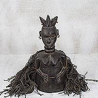 Liberia wood mask, 'Female Spiritual Healer' - Liberia wood mask