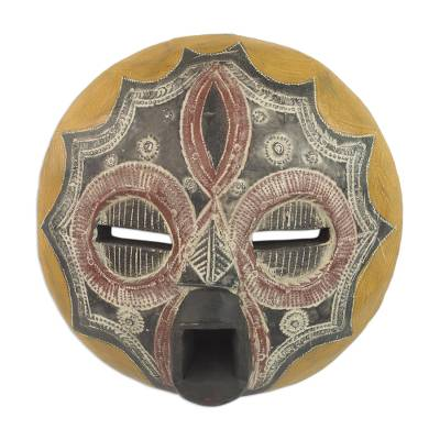 African Wood Wall Mask