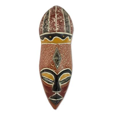 Artisan Crafted Nigerian Wood Mask