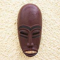 Ivoirian wood mask, 'Senufo Rainmaker' - African Sese Wood Mask