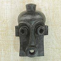 African wood mask, 'Mende Initiation' - African Wood Mask