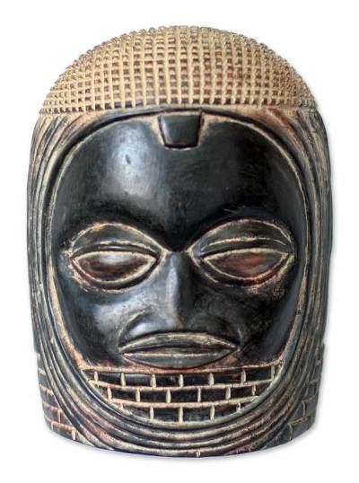 Beninese Wood Wall Mask