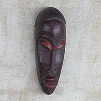 Yoruban wood African mask, 'Gelede Mourning' - African Carved Wood Mask