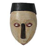 Congolese wood African mask, 'Virgin Forest' - Congolese wood African mask