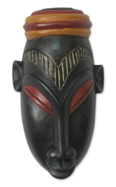 Hand Carved Ivoirian Wood Mask