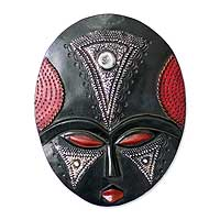 Akan wood mask, 'My Girl on Wednesday' - Akan wood mask