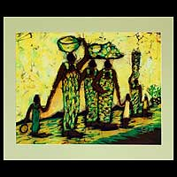 Batik art, 'Loaded File' - Batik art