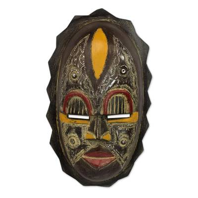 Nigerian Wood Wall Mask