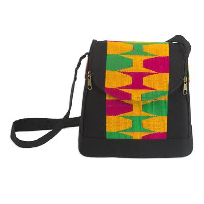 Cotton kente shoulder bag