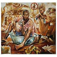 'Market Porter' (2010) - African Fine Art Painting