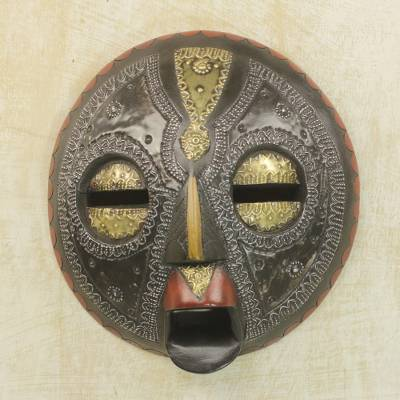 Ghanaian wood mask, 'Sign of Protection' - African Wood Mask