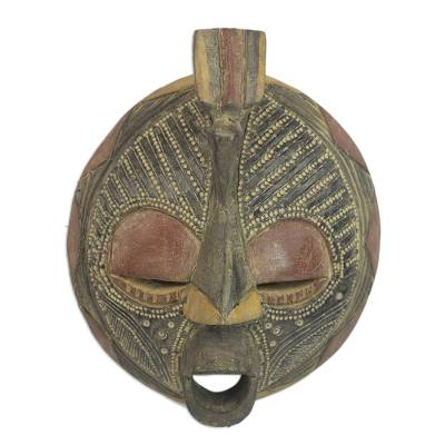 Artisan Crafted Wood Wall Mask