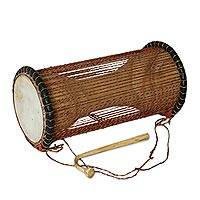 Wood dondo drum,