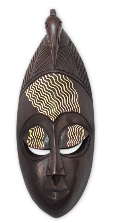 african wood mask our heritage novica. Black Bedroom Furniture Sets. Home Design Ideas