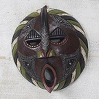 Ewe wood mask, 'Harvest Increase' - Handmade West African Harvest Mask