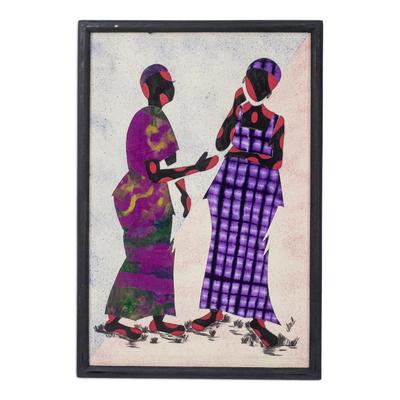 African Cotton Batik Wall Art