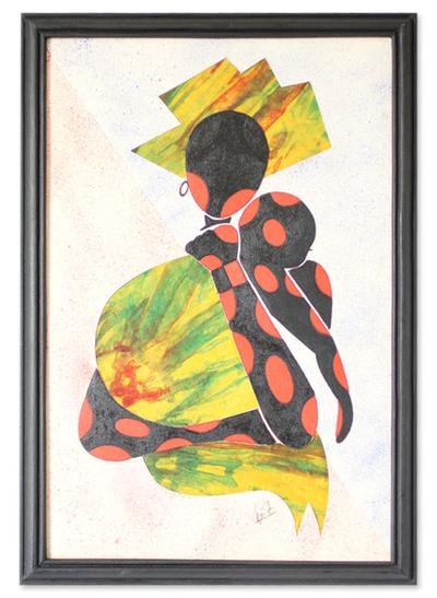 Artisan Crafted Folk Art Painting