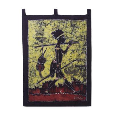 Cotton batik wall hanging
