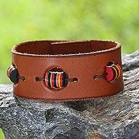 Leather wristband bracelet,