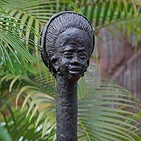 Sculpture African Woman Ghana