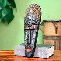 Ivoirian wood mask, 'Queen Aura Poka'