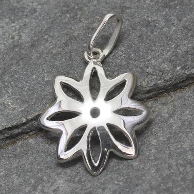Sterling silver pendant, 'Star of Hope' - Floral Sterling Silver Pendant