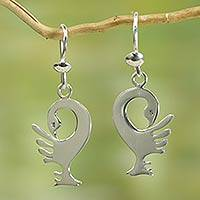 Sterling silver dangle earrings, 'Back to My Roots' - Sterling Silver Dangle Earrings